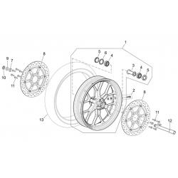 12 - axe de roue avant